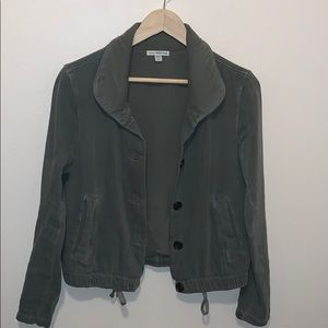 James Perse Green Bomber Jacket